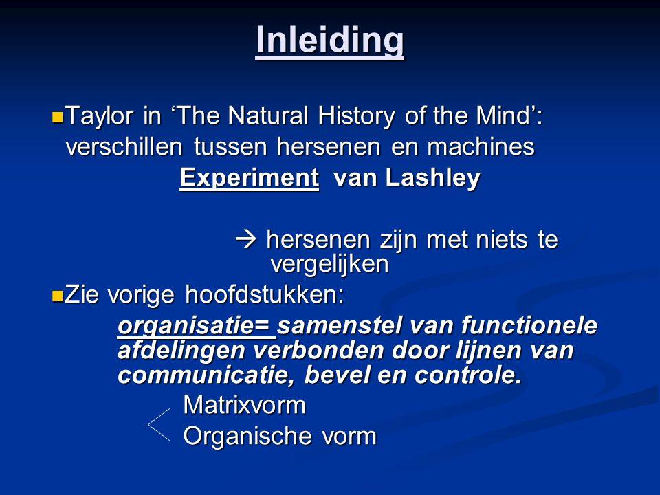 Inleiding Taylor in 'The Natural History of the Mind': Taylor in 'The Natural History of the Mind': verschillen tussen hersenen en machines verschille