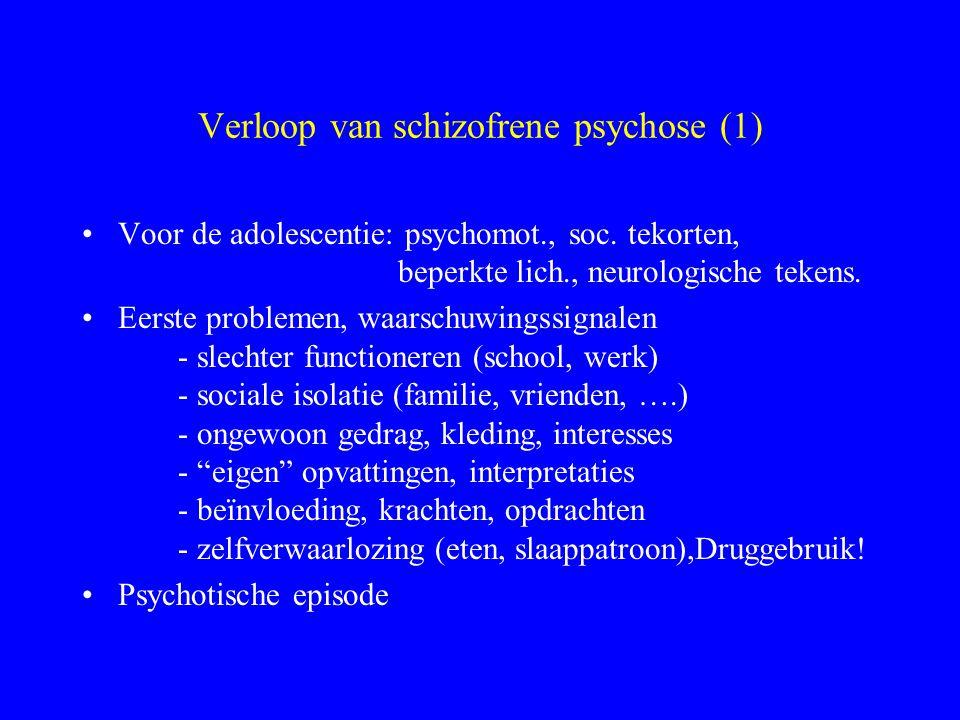 Cerebrale ontwikkelingsstoornis Schizofrenie Structurele afwijkingen - functionele weerslag - statische afwijking Genetische factoren Omgevingsfactore