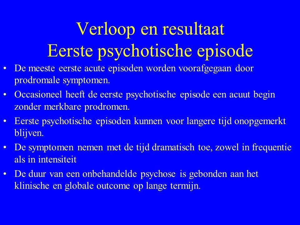 Preventie eerste psychotische episode ? Kwetsbaarheid opsporen : geen specifieke markers (neurofysiol. ?) Aandacht voor prodromen : - affect, cogn., p