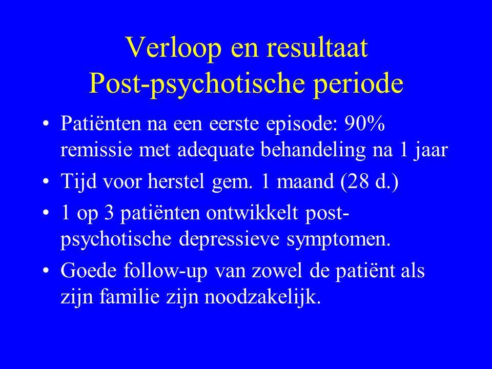 Verloop van schizofrene psychose (2) Eerste psychotische episode - Progressief erger, incident Psychose: stoornis waarnemen, denken, affect, gericht h