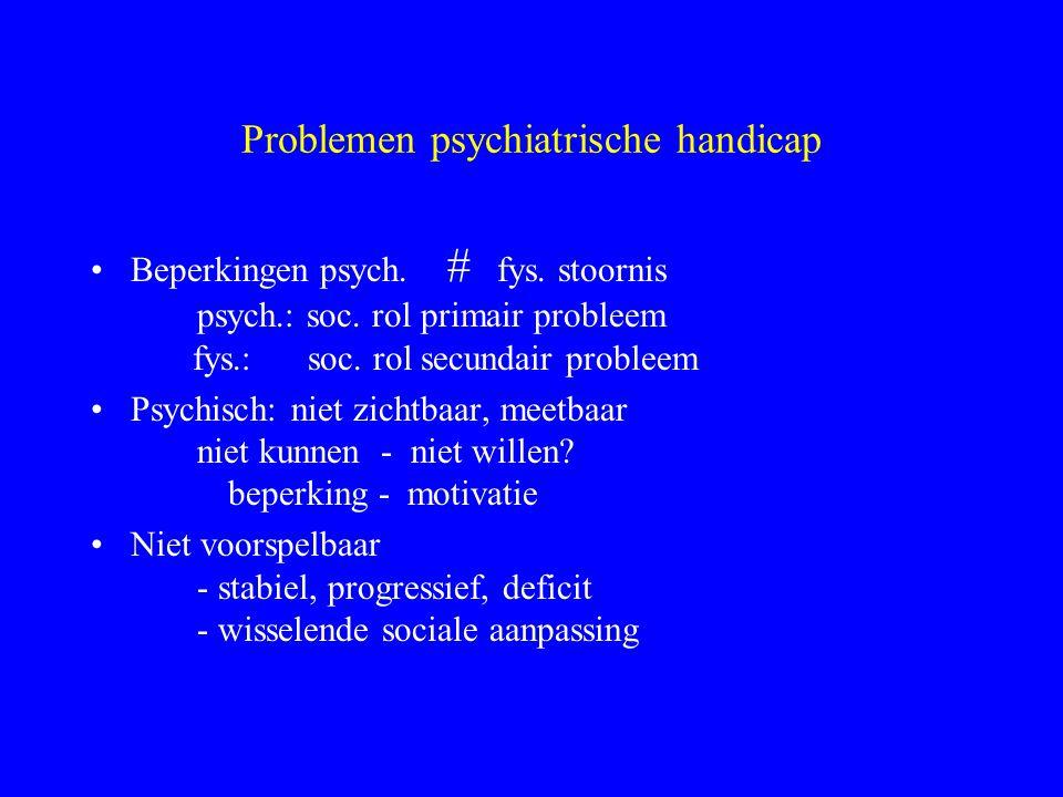 47 Desinstitutionalisering Realiteit, daklozen 3 subpopulaties psychiatrisch zieken –Residentiële zorg in het verleden, dakloos na ontslag –Jonge pati