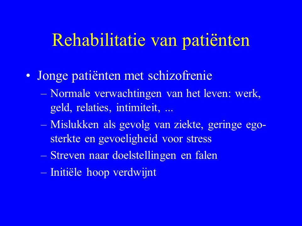 Psycho-sociale rehabilitatie Effectief in behandeling chronische patiënten Effect langdurig intramuraal programma minstens gelijk aan extramuraal: soc