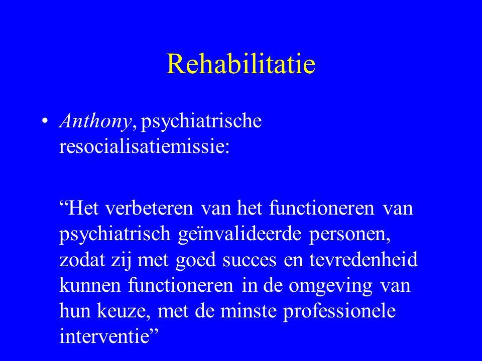 """Rehabilitatie D. Bennett """"Het proces van het helpen van een fysiek of psychiatrisch geïnvalideerd persoon om het beste van zijn/haar residuele mogelij"""