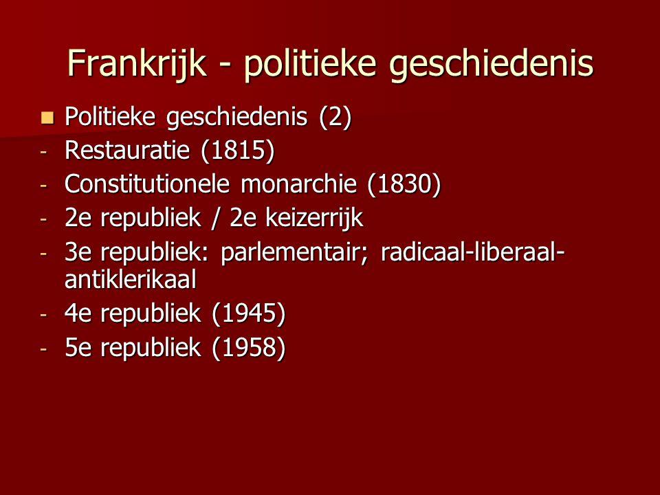 Frankrijk - geschiedenis privaatr.
