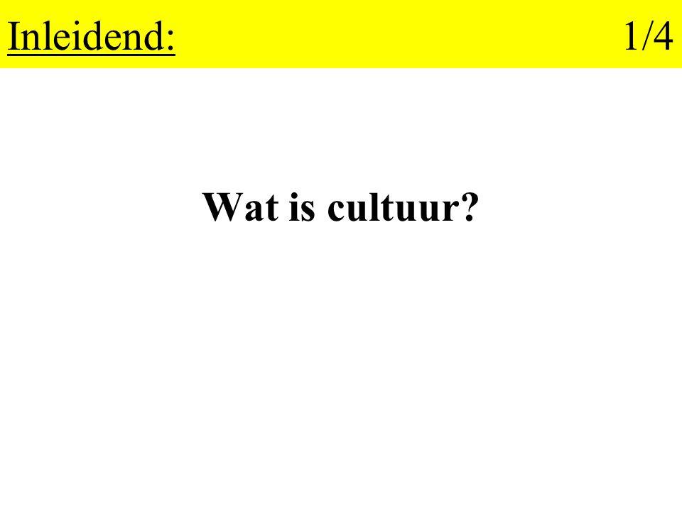 Inleidend:1/4 Wat is cultuur?