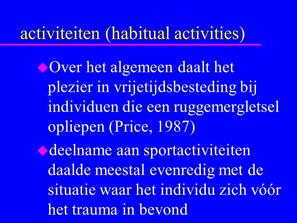 invloed van sportorganisaties voor personen met een handicap u Onder de verschillende klinische types van handicaps, was de minst actieve groep deze van de multiple sclerosis- patiënten (misschien omdat er voor deze groep geen speciale sportorganisaties bestaan)