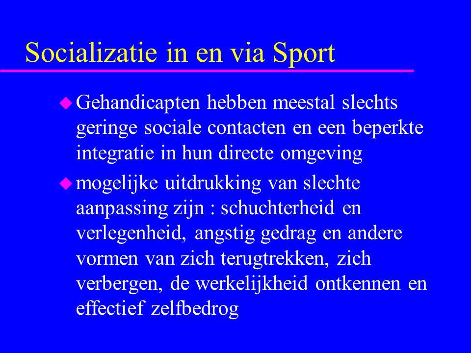Deelname aan sport kan het integratieproces soms positief beïnvloeden u Maar of het effectief is, in het bijzonder op lange termijn, is niet enkel afhankelijk van de houding van het gehandicapt individu u maar ook van de reacties van de begeleiders lichamelijke opvoeding en van de hele maatschappij