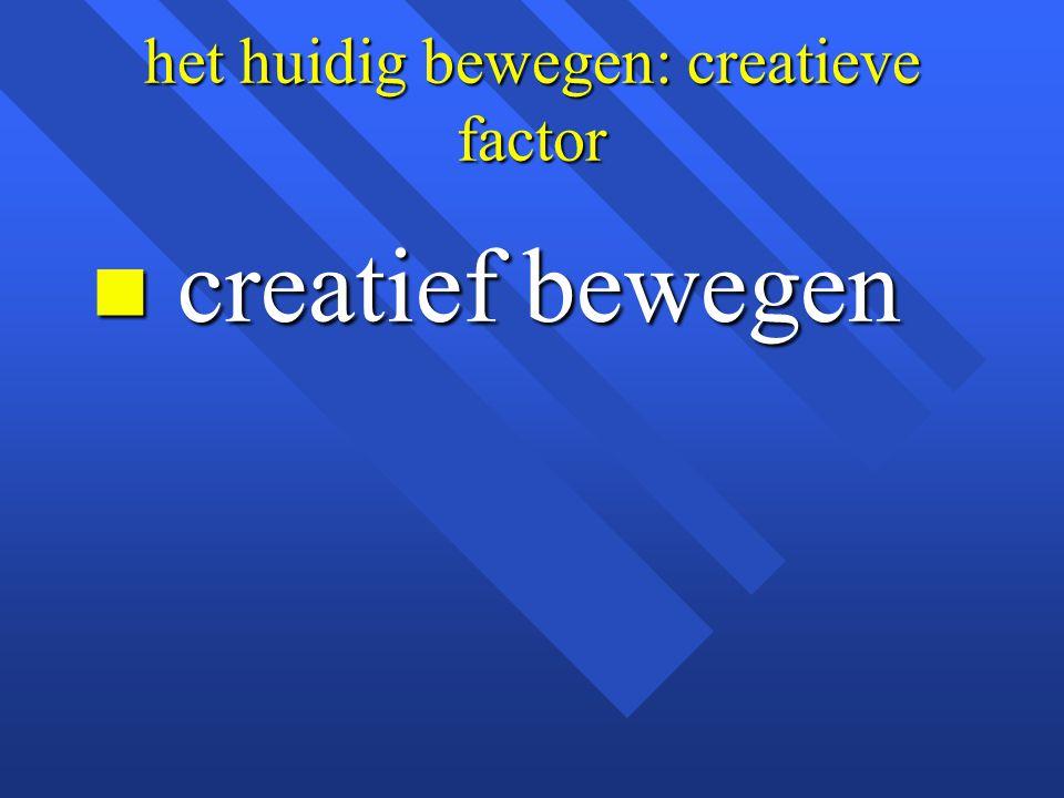 het huidig bewegen: creatieve factor n creatief bewegen