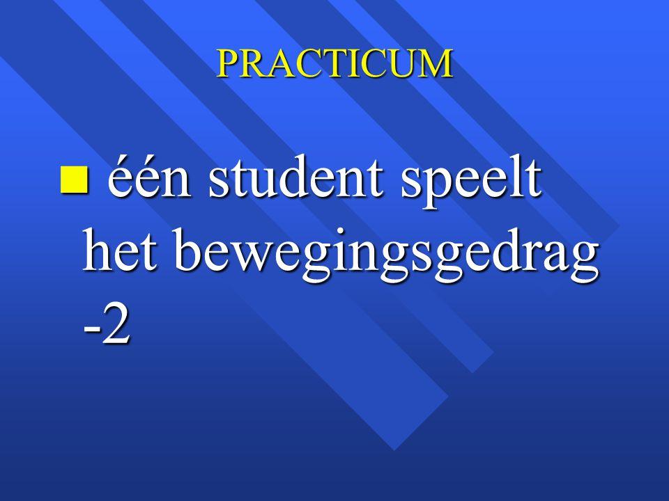 PRACTICUM n één student speelt het bewegingsgedrag -2