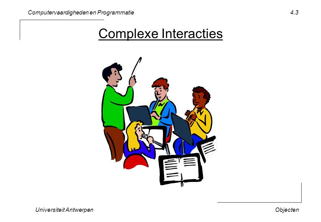 Computervaardigheden en Programmatie Universiteit AntwerpenObjecten 4.4 Optimale Taakverdeling play