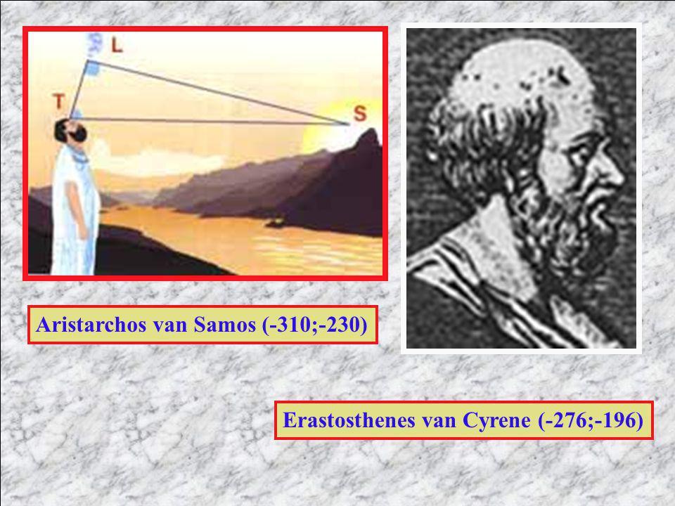 Aristarchos van Samos (-310;-230) Erastosthenes van Cyrene (-276;-196)