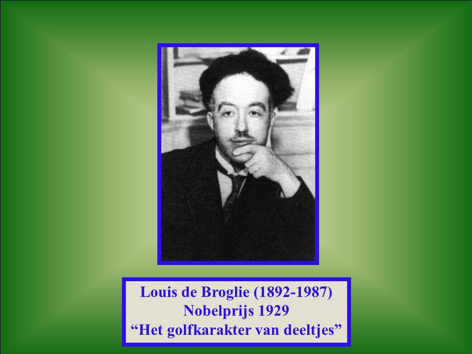 """Louis de Broglie (1892-1987) Nobelprijs 1929 """"Het golfkarakter van deeltjes"""""""