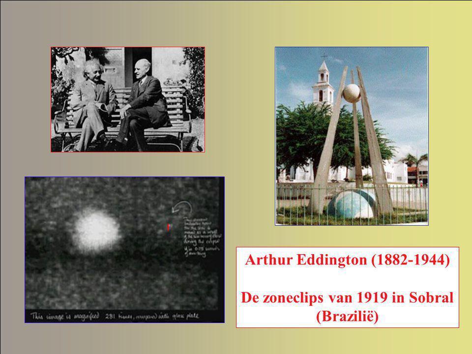 Arthur Eddington (1882-1944) De zoneclips van 1919 in Sobral (Brazilië)