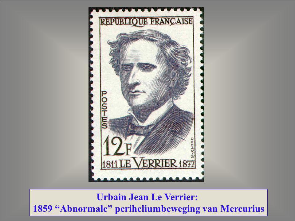 "Urbain Jean Le Verrier: 1859 ""Abnormale"" periheliumbeweging van Mercurius"