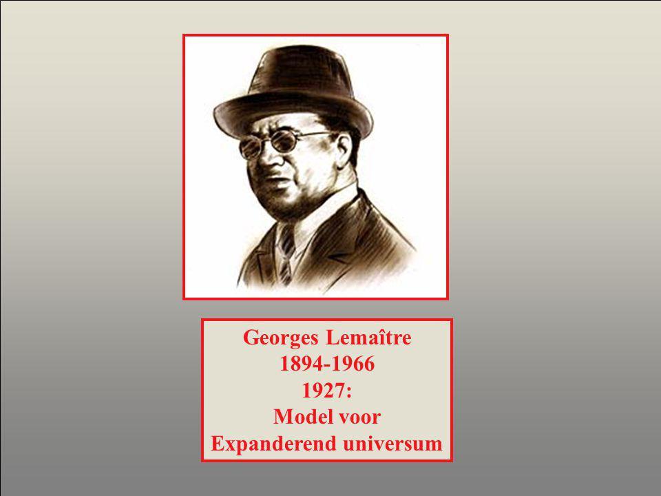 Georges Lemaître 1894-1966 1927: Model voor Expanderend universum