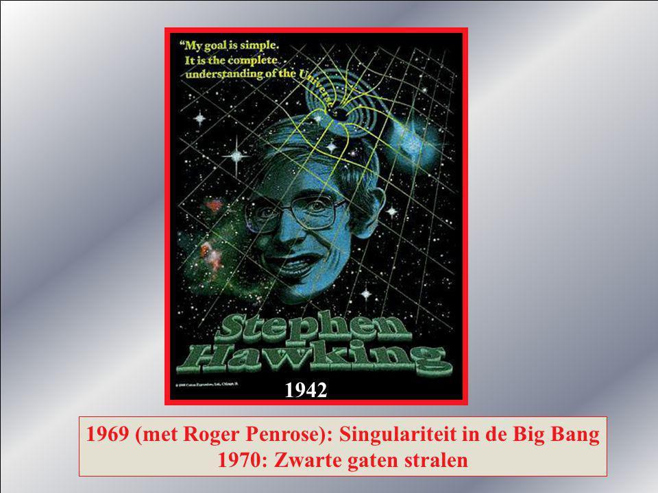 1942 1969 (met Roger Penrose): Singulariteit in de Big Bang 1970: Zwarte gaten stralen