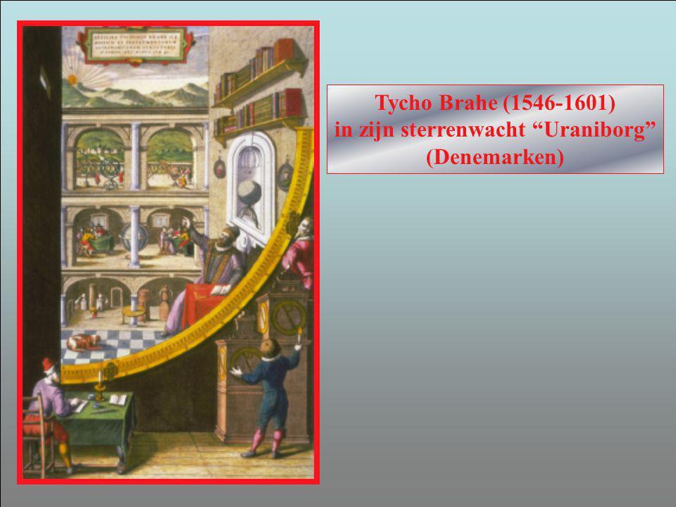 Tycho Brahe (1546-1601) in zijn sterrenwacht Uraniborg (Denemarken)