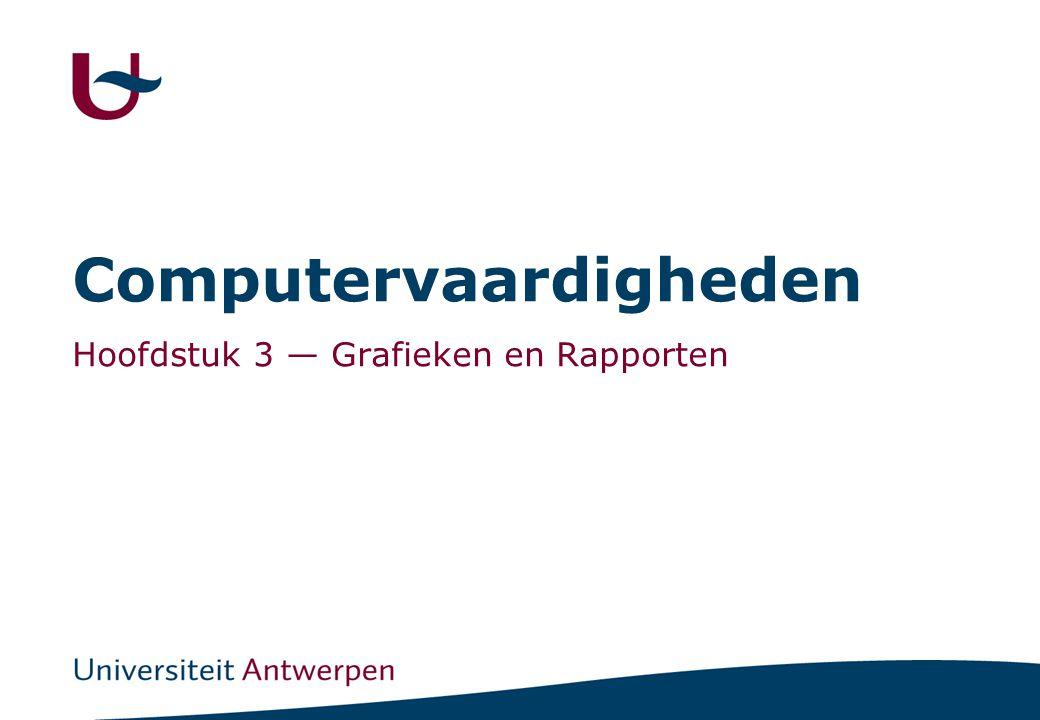 Computervaardigheden Hoofdstuk 3 — Grafieken en Rapporten