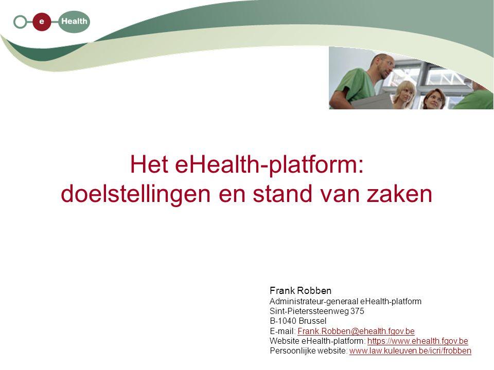 2 30/3/2010 Structuur van de uiteenzetting 1.enkele evoluties in de gezondheidszorg 2.ontstaansreden van het eHealth-platform 3.doel van het eHealth-platform 4.opdrachten van het eHealth-platform en stand van zaken 5.het eHealth-platform als organisatie 6.het Sectoraal Comité van de Sociale Zekerheid en van de Gezondheid 7.waarborgen bij het gebruik van het eHealth-platform 8.voordelen van het eHealth-platform voor de patiënten, de zorgverleners en de overheid 9.kritische succesfactoren 10.vindplaatsen voor meer informatie