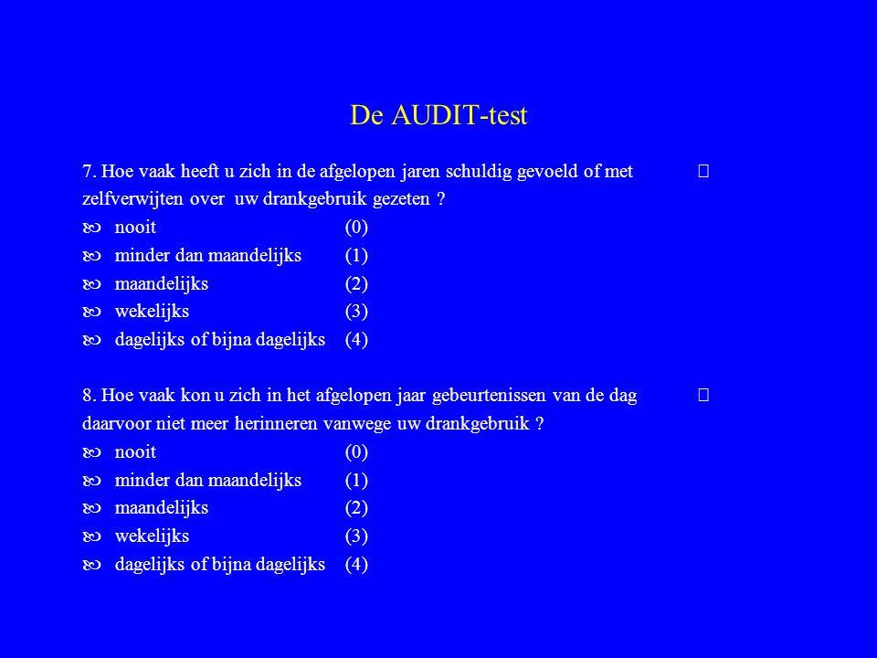 De AUDIT-test 7.
