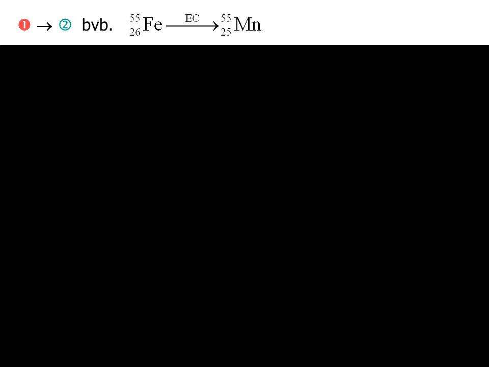 206 Pb 238 U 210 Tl      Vertakt verval   '   ' Partiële vervalconstanten: i * Bij n partiële vervalwegen: Als twee paden (na een aantal tussenliggende vervallen) terug ineenvloeien:  bijdragen apart berekenen en optellen thallium-210
