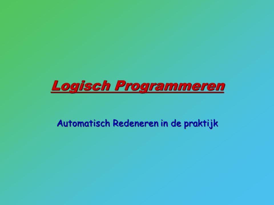 Logisch Programmeren Automatisch Redeneren in de praktijk