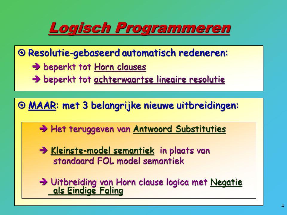 25  Een specifieke programmeertaal gebaseerd op LP.