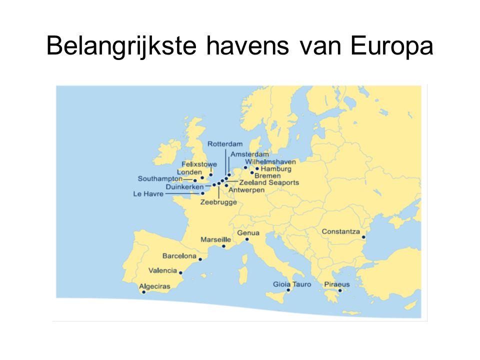 Belangrijkste havens van Europa