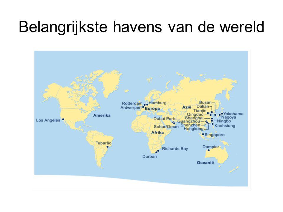 Belangrijkste havens van de wereld