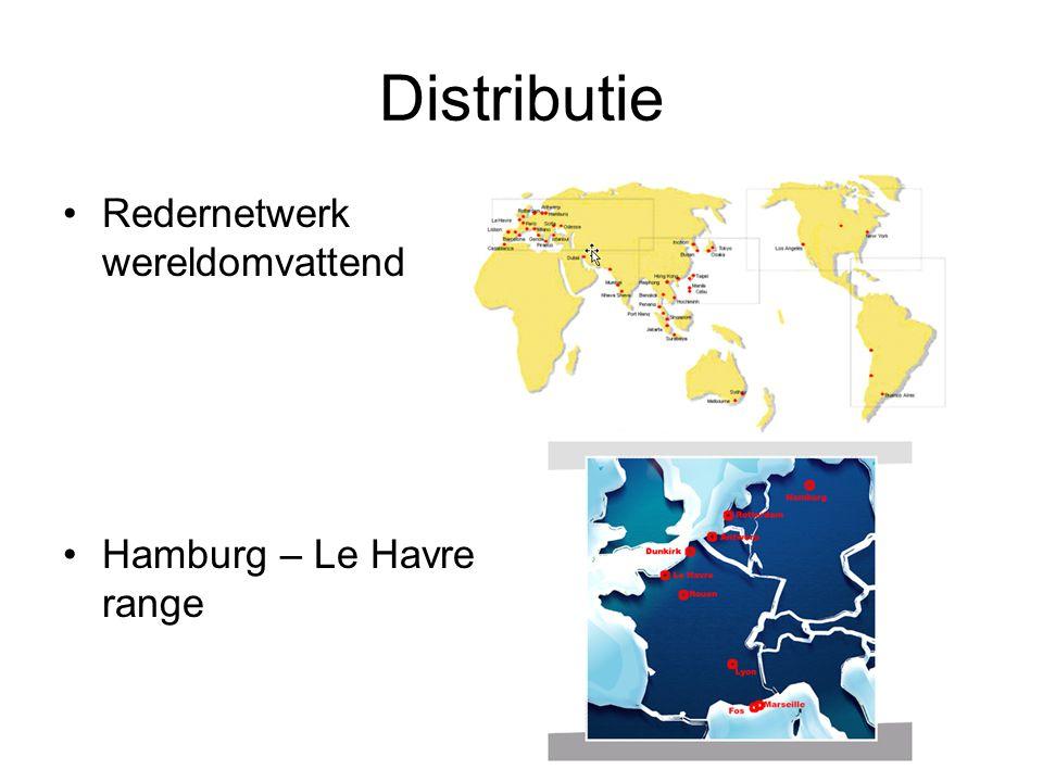 Distributie Redernetwerk wereldomvattend Hamburg – Le Havre range