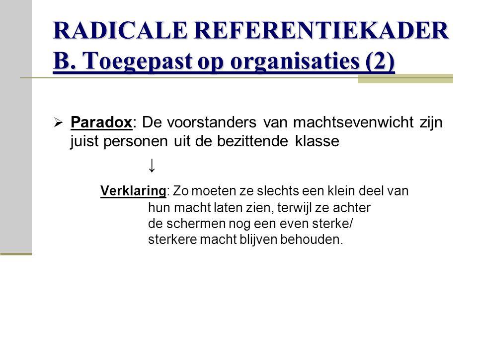 RADICALE REFERENTIEKADER B.