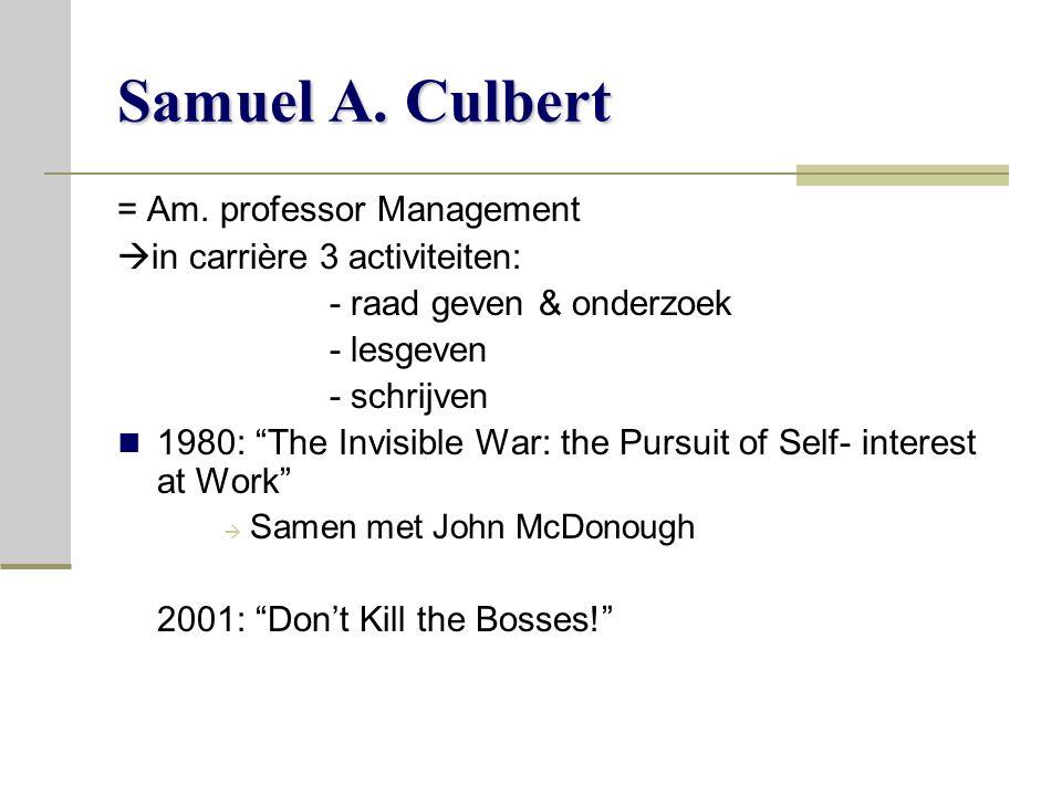 Samuel A.Culbert = Am.