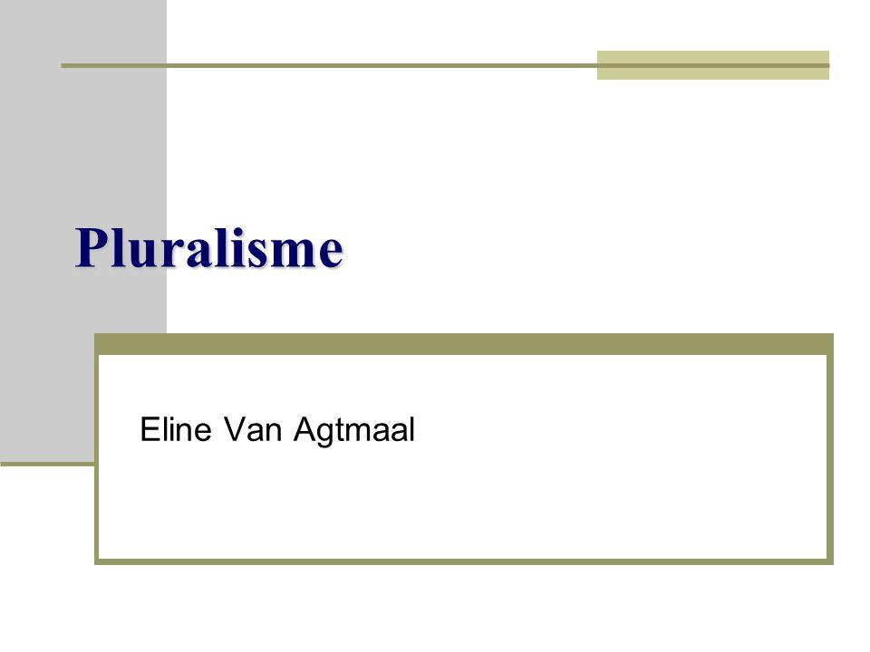 Pluralisme Eline Van Agtmaal
