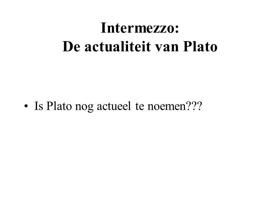 Intermezzo: De actualiteit van Plato Is Plato nog actueel te noemen???