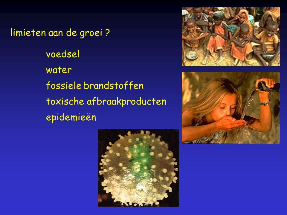 limieten aan de groei ? fossiele brandstoffen toxische afbraakproducten voedsel water epidemieën