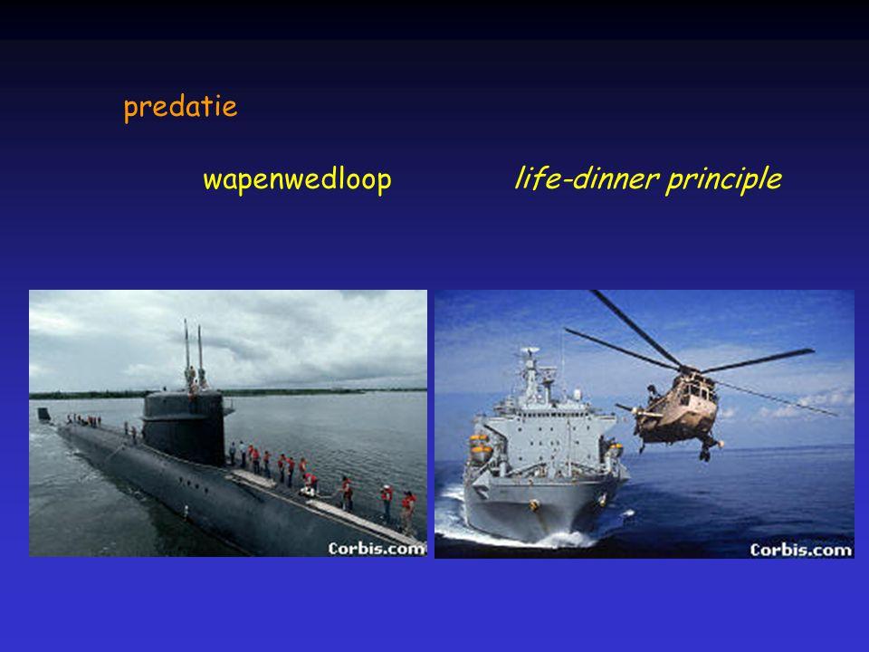 predatie wapenwedlooplife-dinner principle