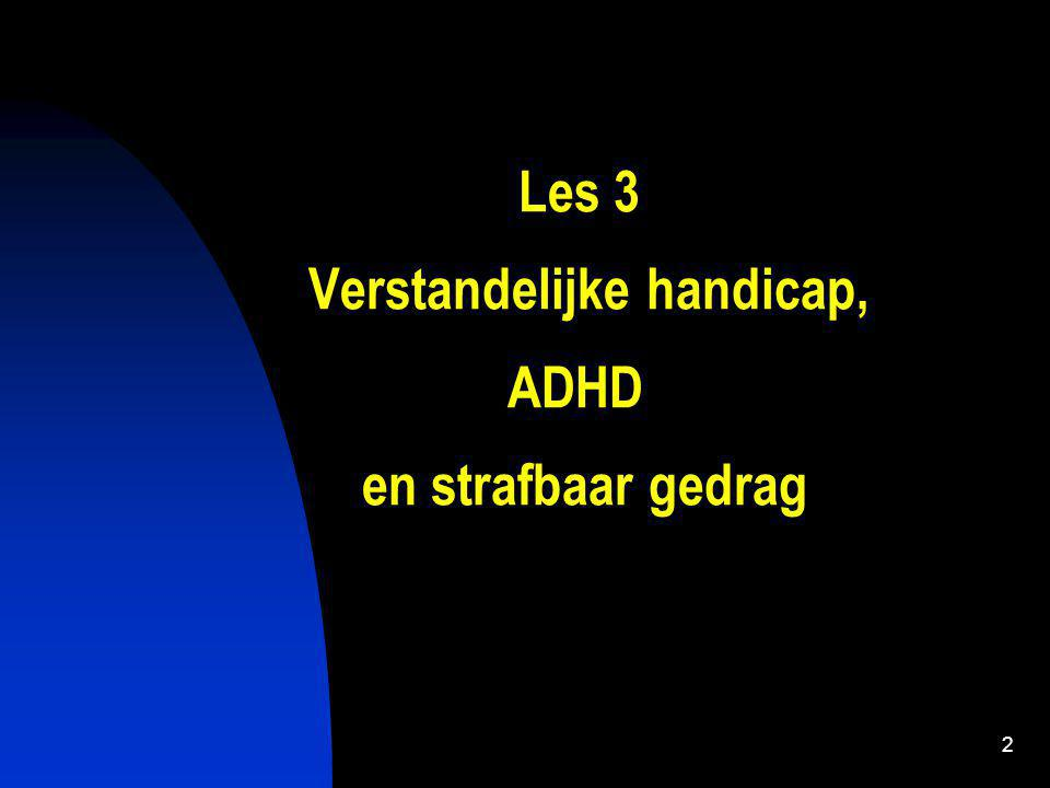 3 Indeling 1.Inleiding 2. Verstandelijke handicap 3.