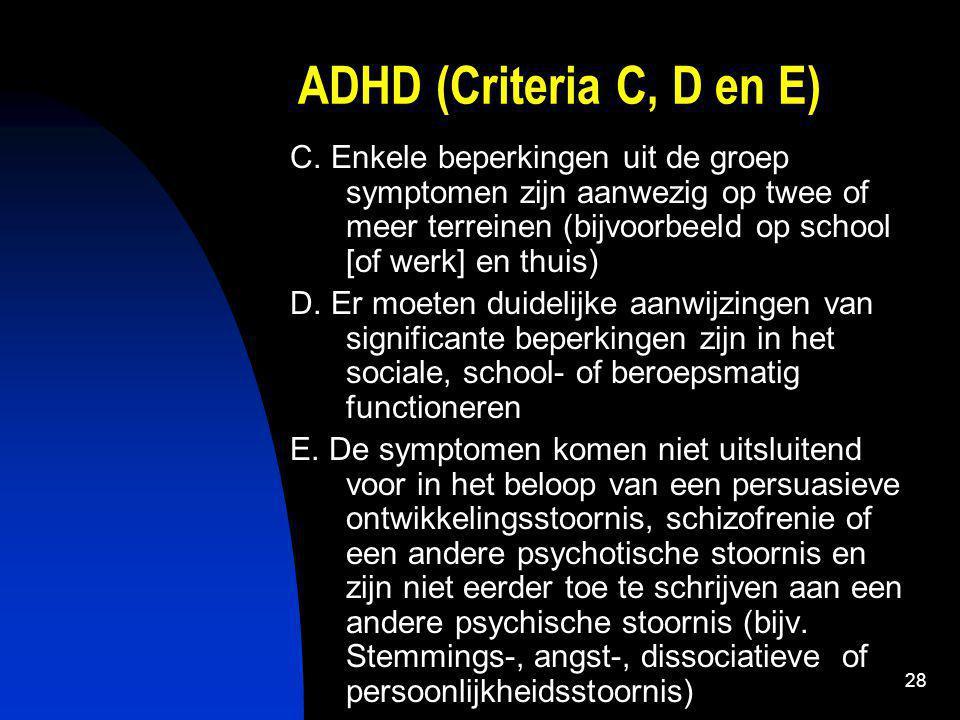 29 (ADHD) 3.3. Verband met strafbaar gedrag a) Aard van misdrijven b) Preventie
