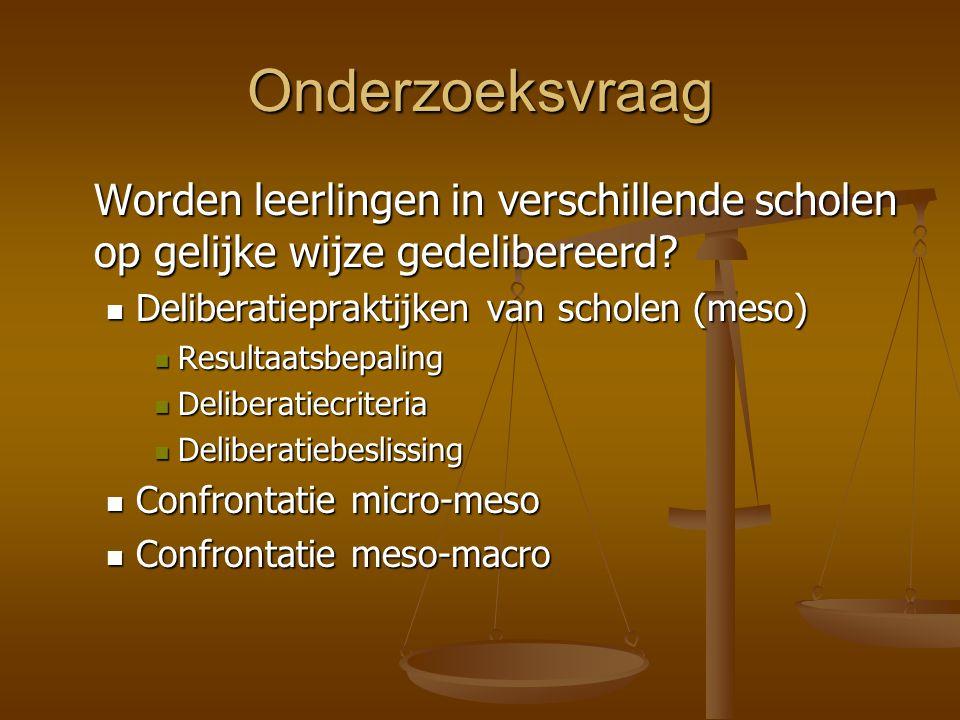 Deliberatiebeslissing (4): vakantietaken Slechts in 4 scholen: Slechts in 4 scholen: vakantietaken > herexamens Om slaagkans in de toekomst te verhogen Om slaagkans in de toekomst te verhogen