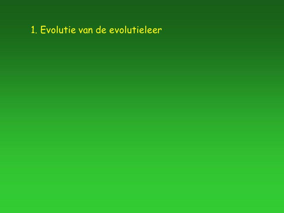 1. Evolutie van de evolutieleer