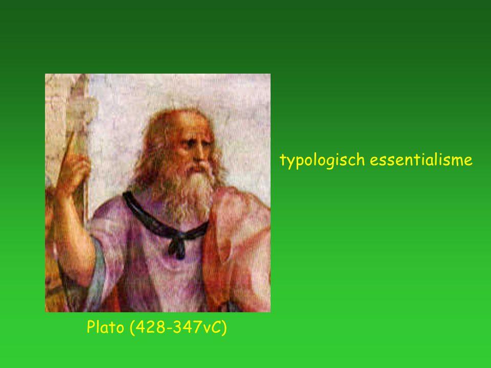 Plato (428-347vC) typologisch essentialisme