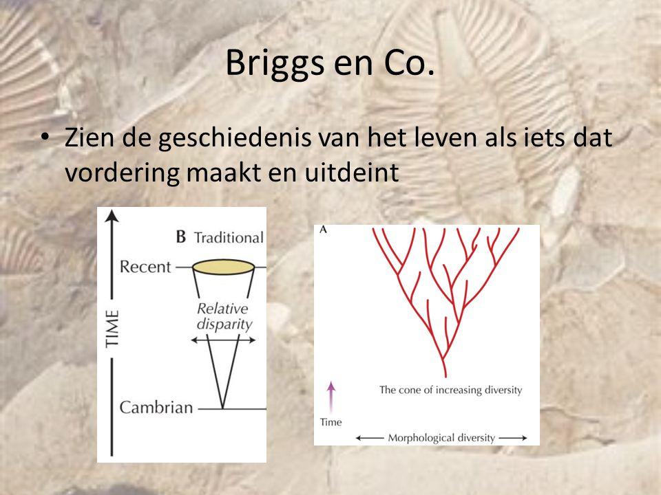 Briggs en Co. Zien de geschiedenis van het leven als iets dat vordering maakt en uitdeint