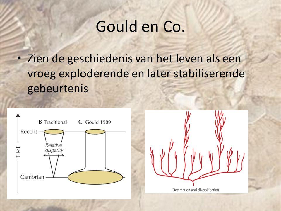 Gould en Co. Zien de geschiedenis van het leven als een vroeg exploderende en later stabiliserende gebeurtenis