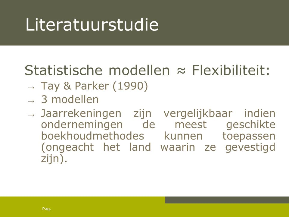Pag.Literatuurstudie How to measure the comparability of financial statements.