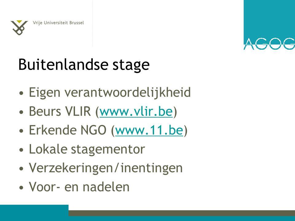 Fasering Aanmaak portfolio (voor 27 mei) Voorbereiding (april-mei) Zoektocht stage (mei-september) Voorbereidend gesprek met stagebegeleider voor 7 oktober 2013