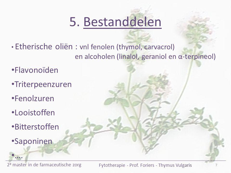 5.Bestanddelen 7 Fytotherapie - Prof.
