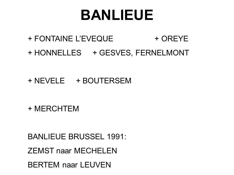 BANLIEUE + FONTAINE L'EVEQUE + OREYE + HONNELLES + GESVES, FERNELMONT + NEVELE + BOUTERSEM + MERCHTEM BANLIEUE BRUSSEL 1991: ZEMST naar MECHELEN BERTE