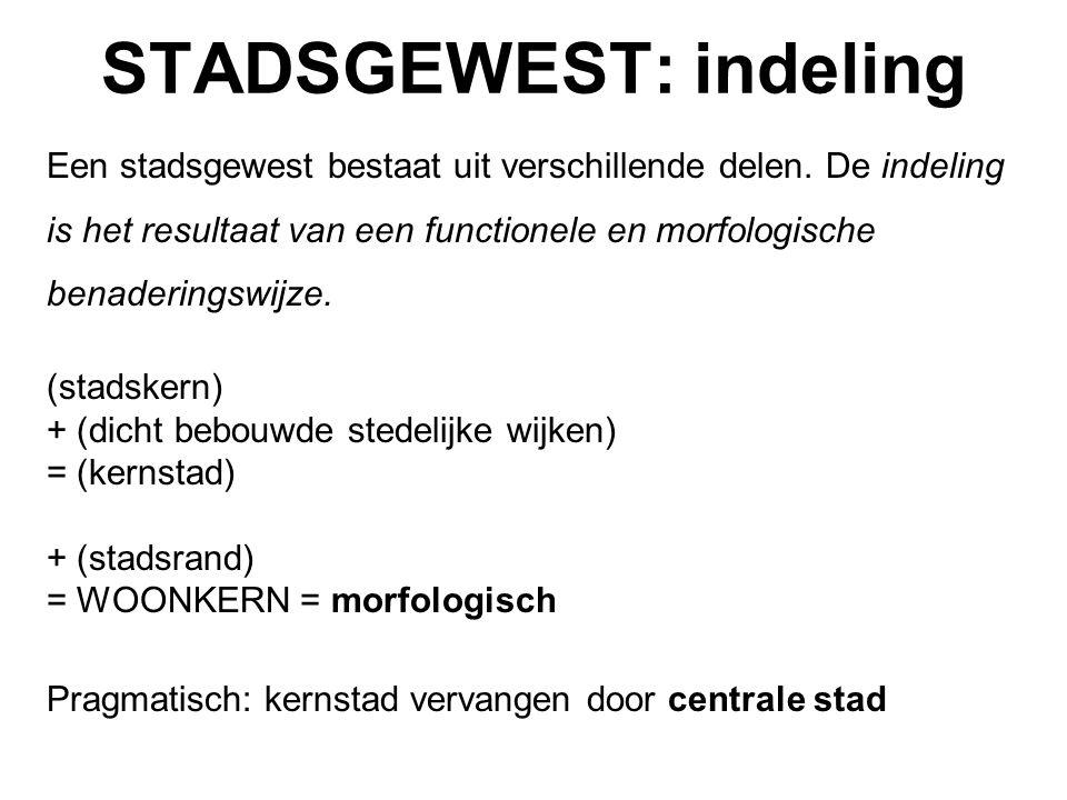 STADSGEWESTEN = ECONOMISCHE ZWAARTEPUNTEN 64,8% van de tewerkstelling in 2001 65,3% in 1991 Maatschappelijke zetels 73% van de Belgische toegevoegde waarde = beslissingscentra Brussels stadsgewest 40% Stadsgewest Antwerpen 13% Stadsgewest Gent 4%