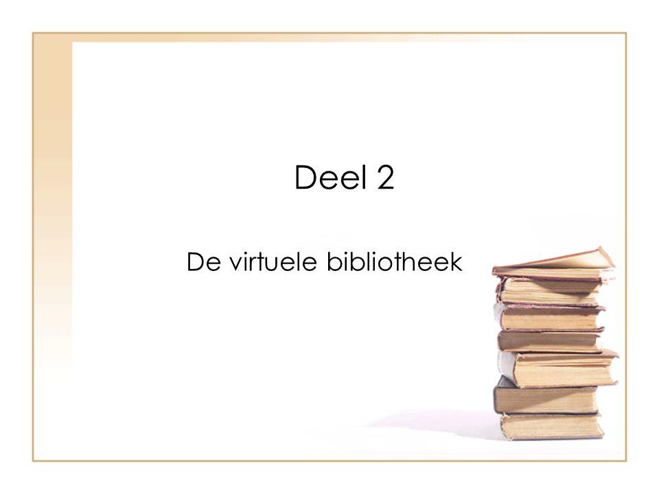 Deel 2 De virtuele bibliotheek