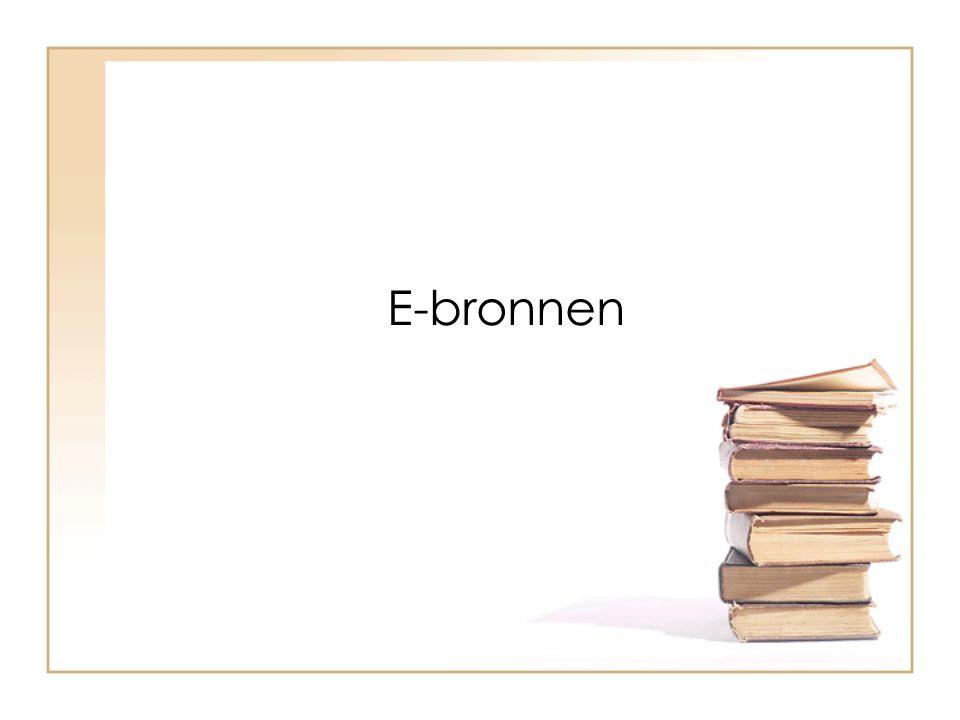 E-bronnen